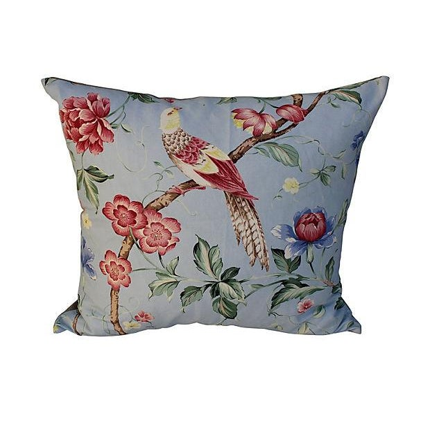 Scalamandre Floral & Bird Chinoiserie Pillows - a Pair - Image 4 of 6