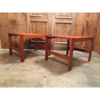 Vintage Mid Century Danish Modern Teak End Tables - a Pair Preview