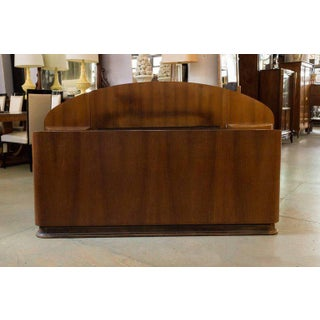 French Art Deco Mahogany Bed With Built in Nightstands Preview