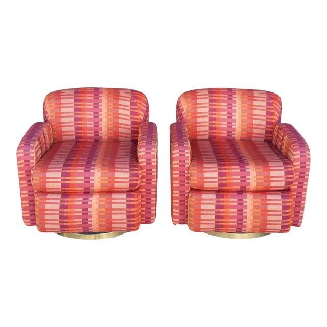 Mid-Century Milo Baughman for Thayer Coggin Swivel Chairs - Image 1 of 7