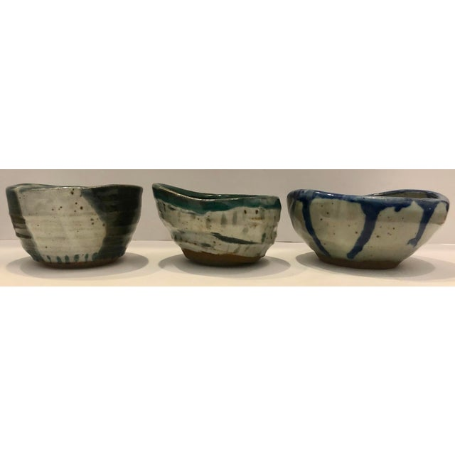 Contemporary Set of 3 Artistic Potteries/Signed For Sale - Image 3 of 9
