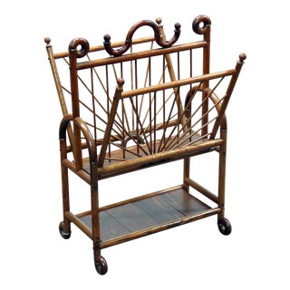 Victorian Oak Magazine Rack