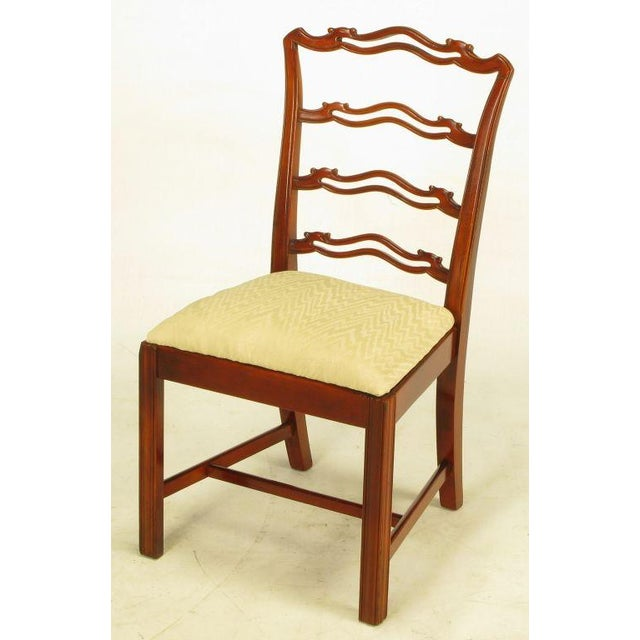 Six Ribbon Back Chippendale Dining Chairs - Image 6 of 10