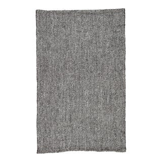 Jaipur Living Topper Handmade Solid Black/ Gray Area Rug - 9′ × 12′ For Sale