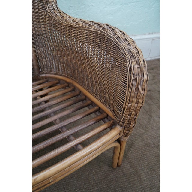 Braxton Culler Wicker Wing Lounge Chairs/Ottoman - Image 6 of 10