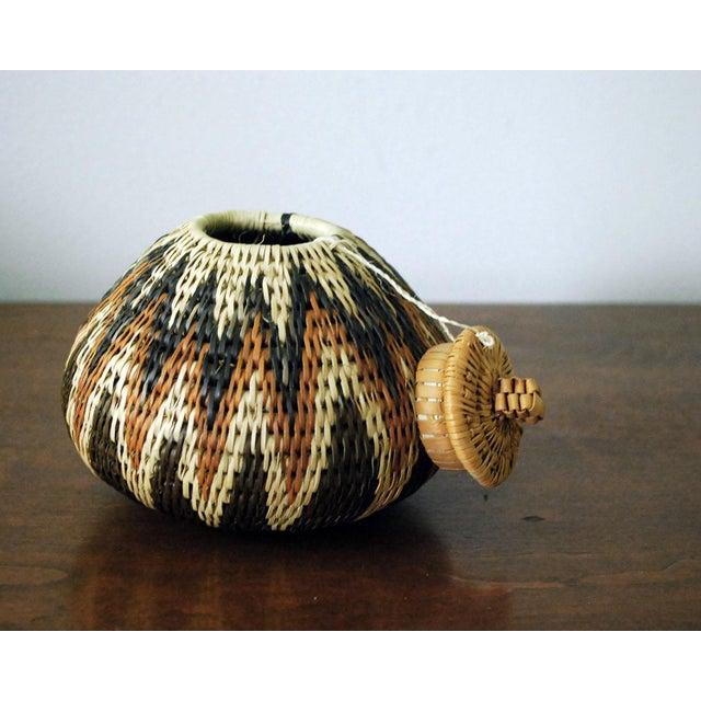 Vintage Zulu Seed Basket For Sale - Image 4 of 8