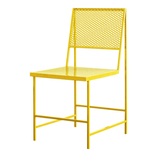 Flux Dining Chair in Sunlight Yellow by the Foreman Brothers For Sale