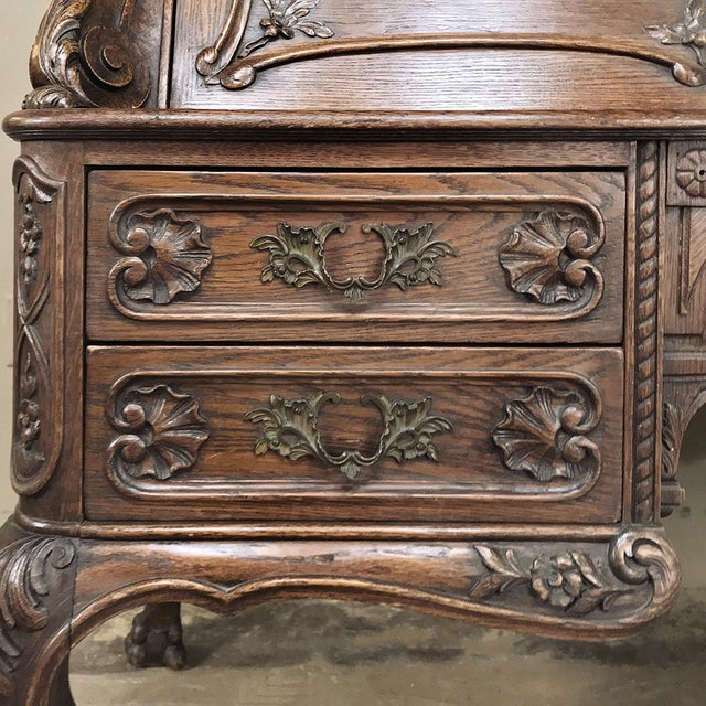 Brass 19th Century French Louis XIV Secretary For Sale - Image 7 of 13