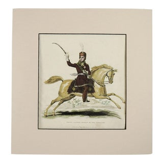 1815 Cossack Equestrian Etching For Sale