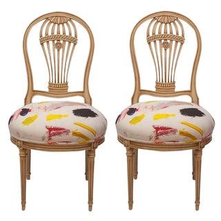 Maison Jansen Balloon Chairs - A Pair For Sale