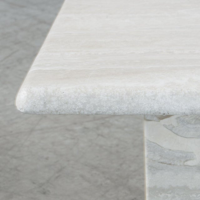 1970s Italian Travertine Coffee Table For Sale - Image 5 of 6
