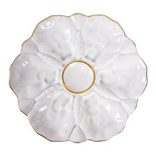 Gerold Porzellan Gold Trim Porcelain Oyster Plates - Set of 6 For Sale