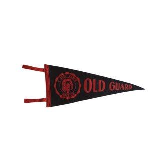 Vintage Old Guard Ymca Felt Flag Pennant For Sale