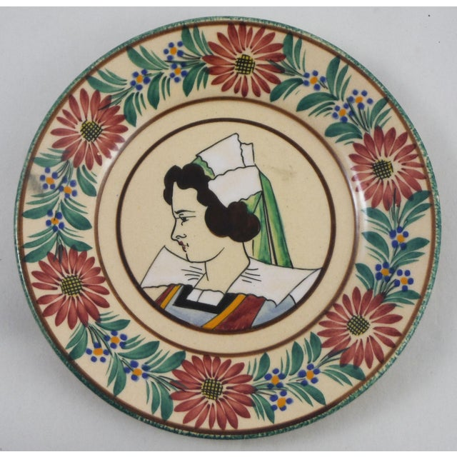 French 1930s French Faience Quimper Plate For Sale - Image 3 of 3
