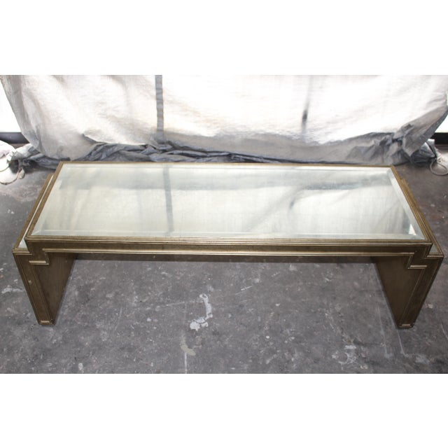 Art Deco Vintage Mid-Century Mirrored Coffee Table For Sale - Image 3 of 6