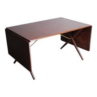 Hans Wegner Model AT-309 Dropleaf Dining Table for Andreas Tuck in Teak, Denmark For Sale