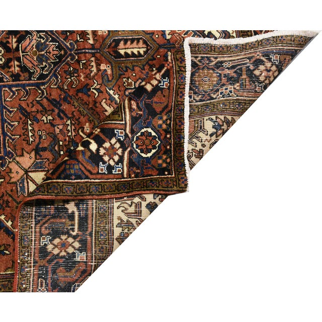 Islamic Vintage Persian Heriz Rug - 7'1'' X 9'5'' For Sale - Image 3 of 5