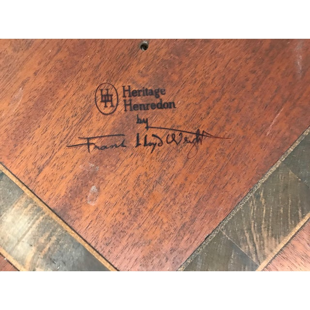 Mahogany Frank Lloyd Wright for Henredon Coffee Table W/Slate Stone Top For Sale - Image 7 of 9