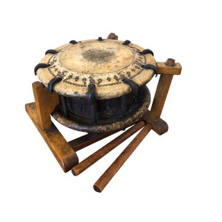 Shime-Daiko Meiji Period Japanese Drum For Sale