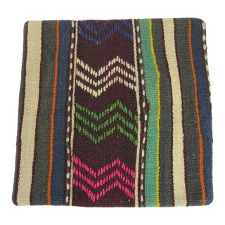 Bohemian Multi-Colored 16 Inch Square Pillow For Sale