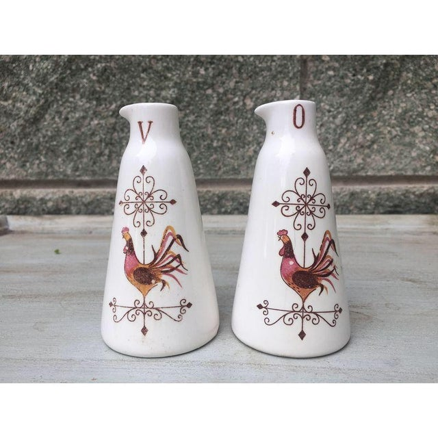 French Country Oil/Vinegar Bottles - Antique Pair - Image 2 of 5