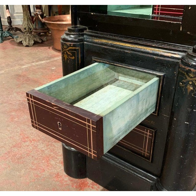 Keep all your valuables and jewelry safe in this elegant, antique iron safe. Crafted in Spain circa 1870, the strongbox...