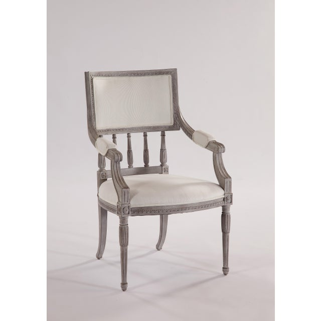 2010s Swedish Spindle Back Dining Arm Chair For Sale - Image 5 of 5