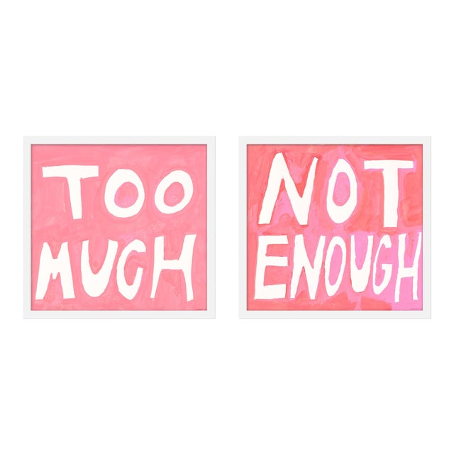 "Small ""Too Much/Not Enough, ""Print by Virginia Chamlee, 40"" X 19"" - Set of 2 For Sale"