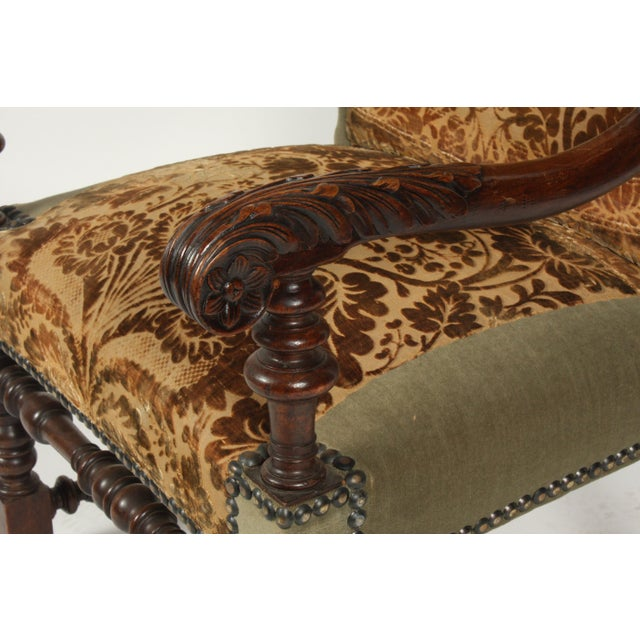 Late 19th Century 1890s Renaissance Revival-Style Armchair For Sale - Image 5 of 10