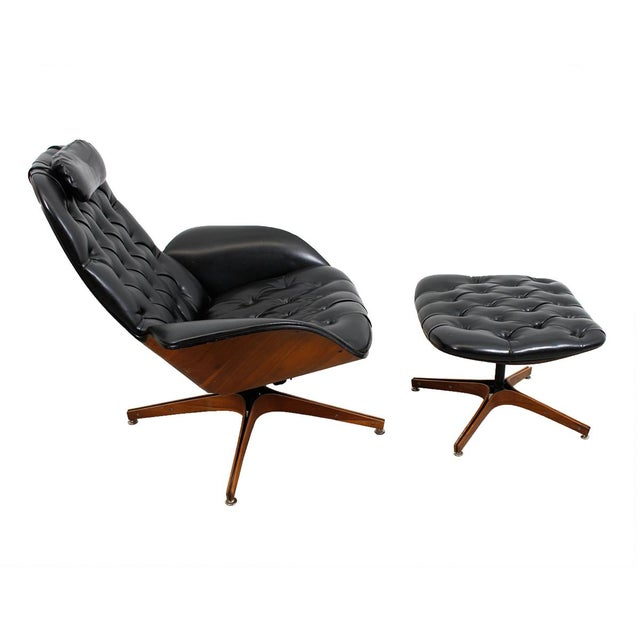 MCM Mulhauser Molded Wood Lounge Chair & Ottoman - Image 2 of 10