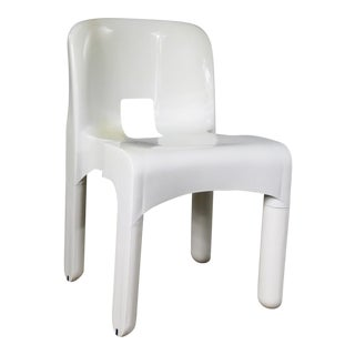 Sedia Universale 4867 Plastic Chair by Joe Columbo for Kartell in White For Sale