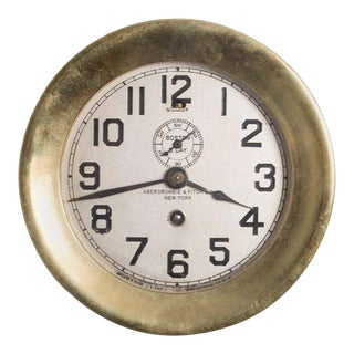 19th C. Chelsea Clock Co./Abercrombie and Fitch Brass Clock C.1888 For Sale