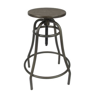 Industrial Style Counter Bamboo Top Bar Stool For Sale