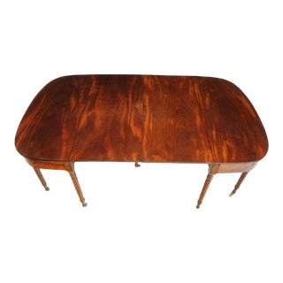 Early 19th Century Sheraton Design Mahogany Convertible Dining Table For Sale