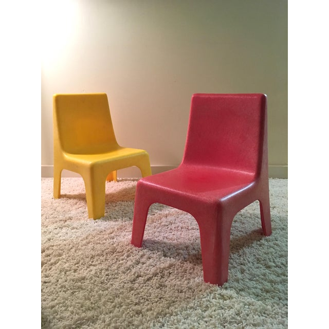 Vintage Iseale Kid's Stacking Chairs - a Pair For Sale - Image 4 of 4