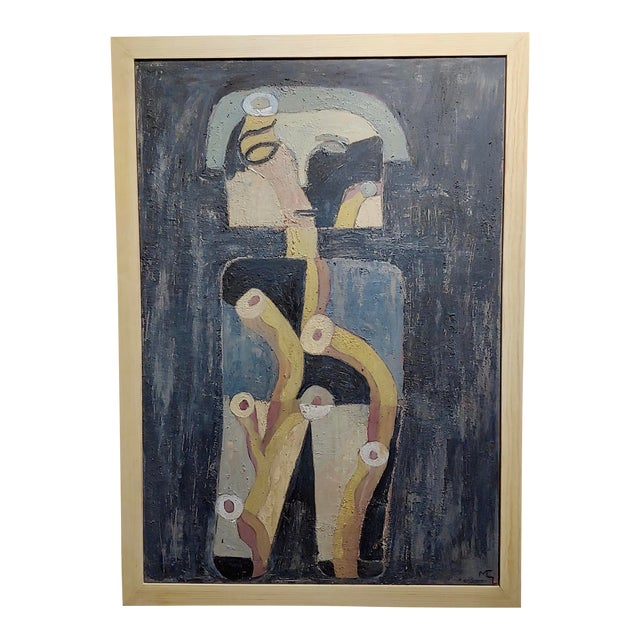 Miguel Castro Lenero -The Thinker -Abstract - Oil Painting For Sale