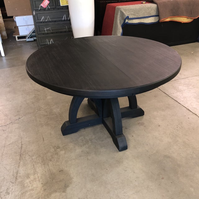 Wood Hooker Corsica Dining Black Wooden Dining Table For Sale - Image 7 of 10