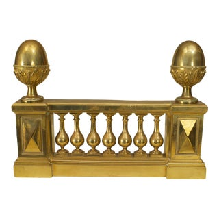 Pair of Adam Style Architectural Andirons For Sale