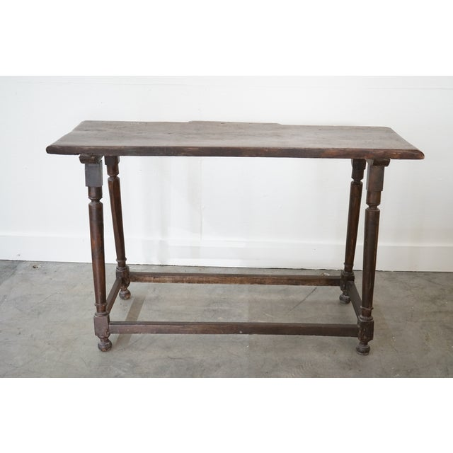 Spanish Walnut Console For Sale - Image 4 of 8