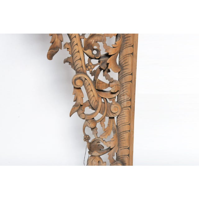 Brown Burmese Hand Carved Arch For Sale - Image 8 of 11