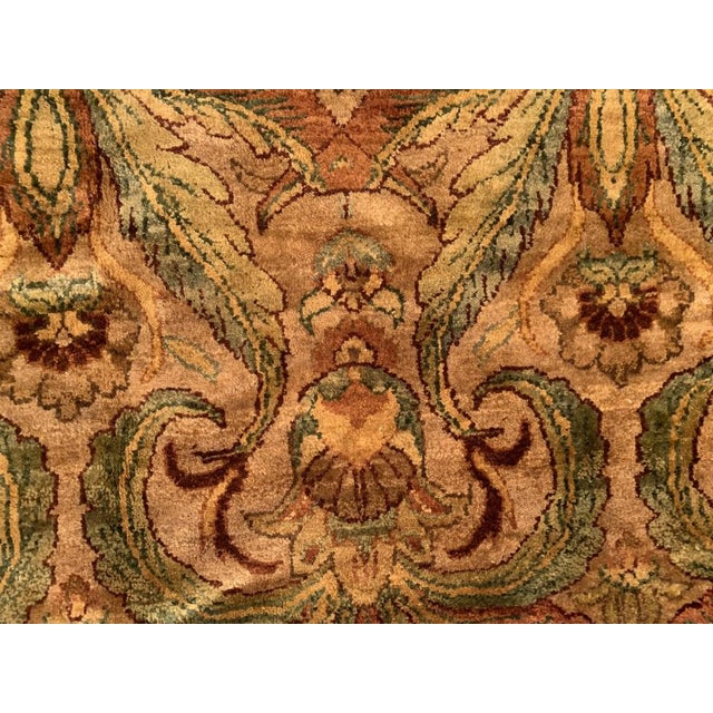 Pasargad Gold Color Hand Knotted Agra Rug- 11′11″ × 14′8″ For Sale - Image 9 of 10