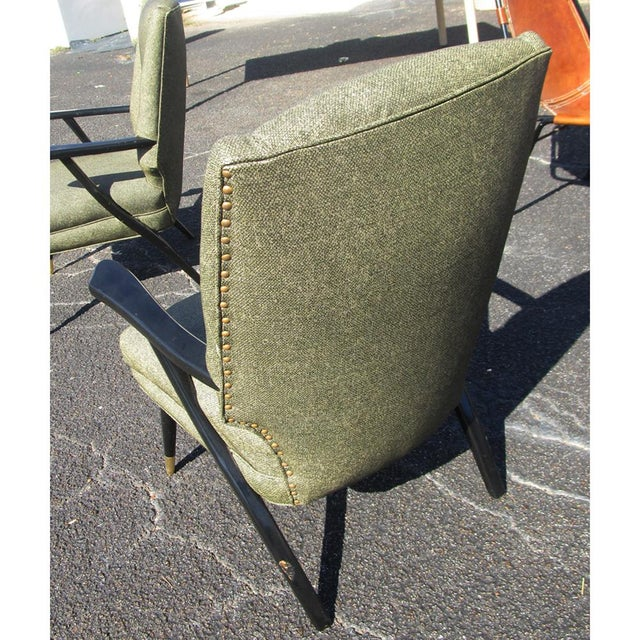 Vintage Mid-Century Pair of Italian Style Lounge Chairs Mr14715 For Sale - Image 4 of 9