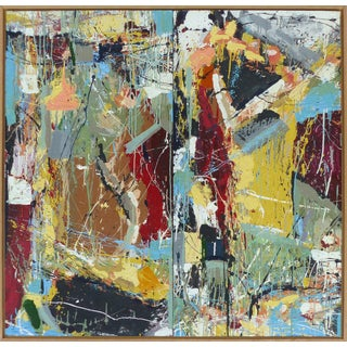"William Phelps Montgomery ""Frenzy"" Mixed-Media Painting For Sale"