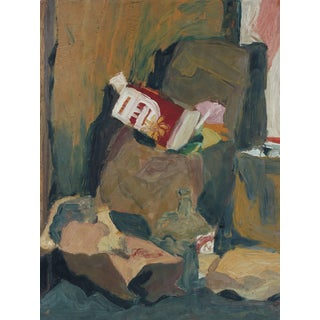Jane Rades Muted Still Life Oil Painting, Circa 1960s For Sale