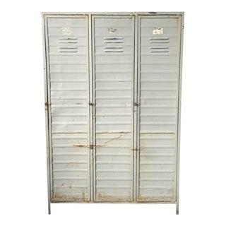 Industrial Locker Cabinet, 1950s-1960s