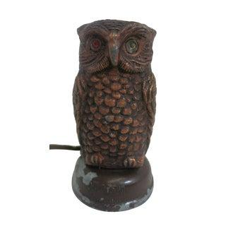 Copper Tone Owl Sculptural Timer For Sale