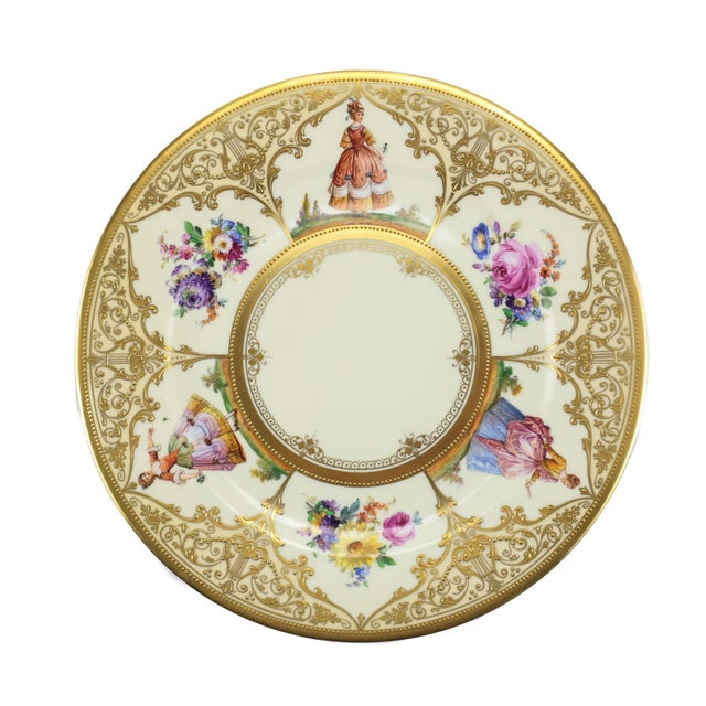 Ambrosius Lamm Dresden Hand Painted Dinner Plates - Set of 12 - Image 3 of 5