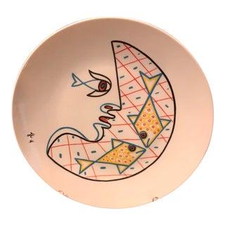 Cocteau Rare Colored Plate, Initialed J. C., for Jean Cocteau For Sale