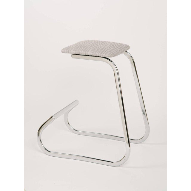 Silver Pair of Sculptural Mid-Century Modern Counter Stools by Charles Stendig For Sale - Image 8 of 9