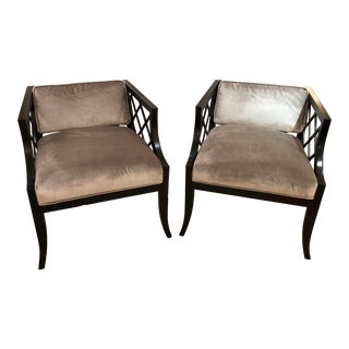 Vintage Mid-Century Hollywood Regency Chairs - a Pair For Sale